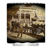 Niagra Carting Wagon Extras The Great White Hope Set Globe Arizona 1969-2014 Shower Curtain