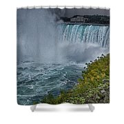 Niagra Falls In Oil Shower Curtain
