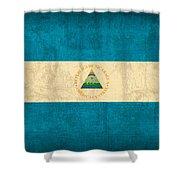 Nicaragua Flag Vintage Distressed Finish Shower Curtain