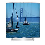 Nice Day On The Bay Shower Curtain