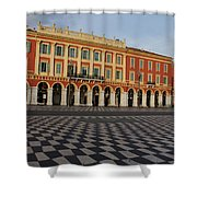Nice France - The Cheerful Colors Of Place Massena Shower Curtain