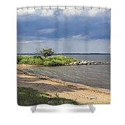 Nice Little Cove Shower Curtain