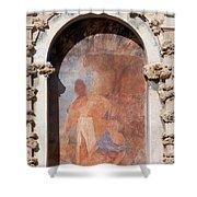 Niche Fresco In Real Alcazar Of Seville Shower Curtain