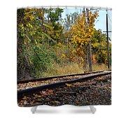 Nickel Plate Train Tracks Shower Curtain