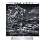 Nicko's Restaurant Shower Curtain by Marvin Spates