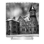 Nicolet School In Black And White Shower Curtain