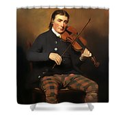 Niel Gow - Violinist And Composer Shower Curtain
