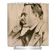 Nietzsche Shower Curtain