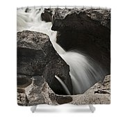 Nigel Creek Waterfall Detail Shower Curtain