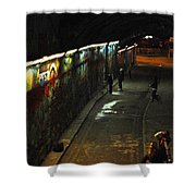 Night Activity Shower Curtain