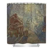 Night After Millet Shower Curtain