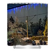 Night After The Ice Storm Shower Curtain