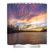 Night Approaches Shower Curtain