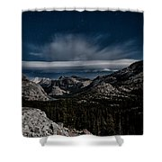Night At Olmstead Point Shower Curtain by Cat Connor