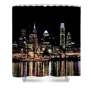 Night At Penn's Landing - Philadelphia Shower Curtain