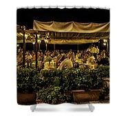 Night At The Cafe - Taormina - Italy Shower Curtain