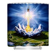 Night At The Cape Shower Curtain