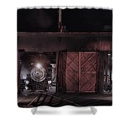 Night At The Durango Roundhouse Shower Curtain