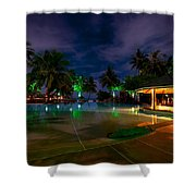 Night At Tropical Resort 1 Shower Curtain