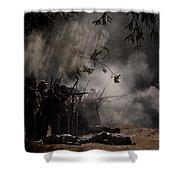 Night Battle Shower Curtain