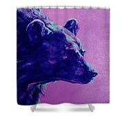 Night Bear Shower Curtain