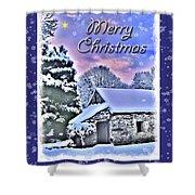 Christmas Card 28 Shower Curtain