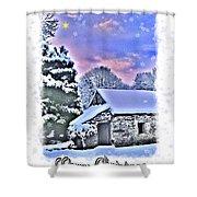 Christmas Card 27 Shower Curtain