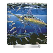 Night Broadbill Off0068 Shower Curtain
