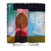 Night Comes Shower Curtain