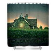 Night Cottage Shower Curtain