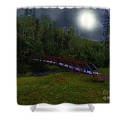 Night Crossing Shower Curtain