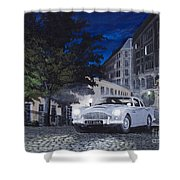 Night Drive Shower Curtain