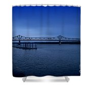 Night Fall On The Illinois River Shower Curtain