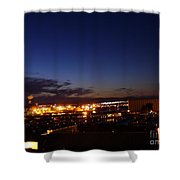 Night Falls At Old Port Of Quebec Shower Curtain