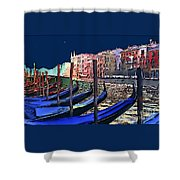 Night Falls In Venice Shower Curtain