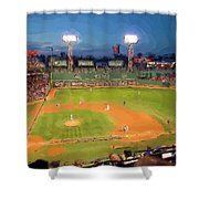 Night Fenway Pop Shower Curtain