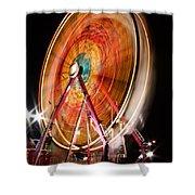 Night Ferris Wheel 3 Shower Curtain