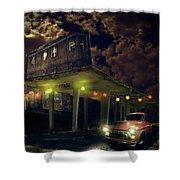 Night Fill Shower Curtain