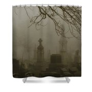 Dark Rolling Night Fog Shower Curtain
