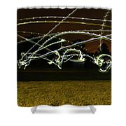Night Frisbee Shower Curtain