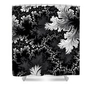 Night Frost Shower Curtain
