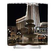 Night Glow At The Venetian Las Vegas Shower Curtain