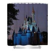 Night Illuminates Cinderella Castle Shower Curtain