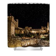 Night In The Old City Shower Curtain