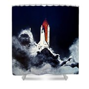 Night Launch Shower Curtain