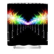 Night Light Panoramic Shower Curtain