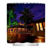 Night Lights At The Resort Shower Curtain