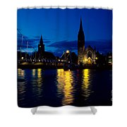 Night Lights In Inverness Shower Curtain