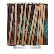 Night On The Bread Stick Planet Shower Curtain