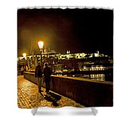 Night On The Charles Bridge Shower Curtain